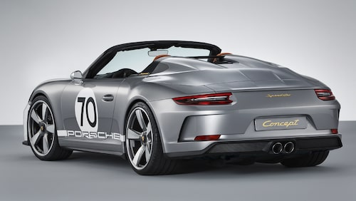 Porsche 911 Speedster Concept visades för några veckor sedan.