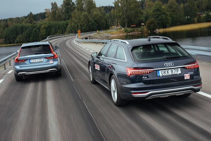 Volvo V90 Cross Country och Audi A6 allroad quattro gör upp, bara en kan vara bäst.