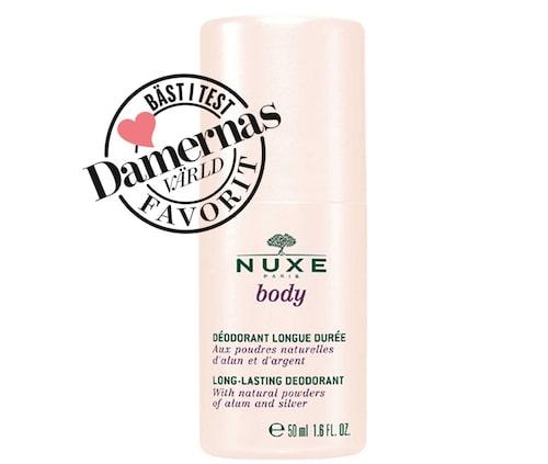 Recension av Body long-lasting deodorant, 50 ml, Nuxe.
