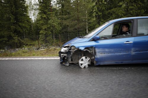 Även bilar kan spåra ur.