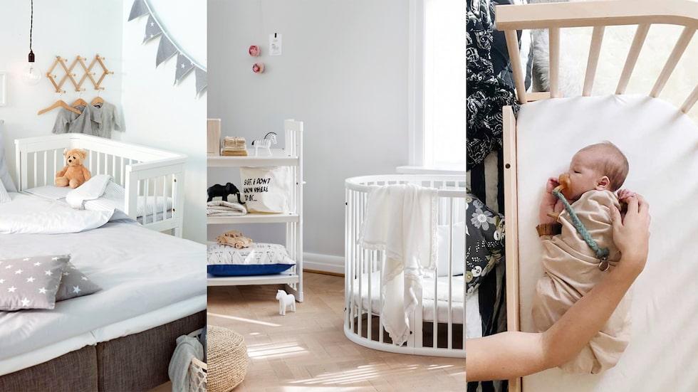 Ska man välja en spjälsäng, vagga eller bedside crib?
