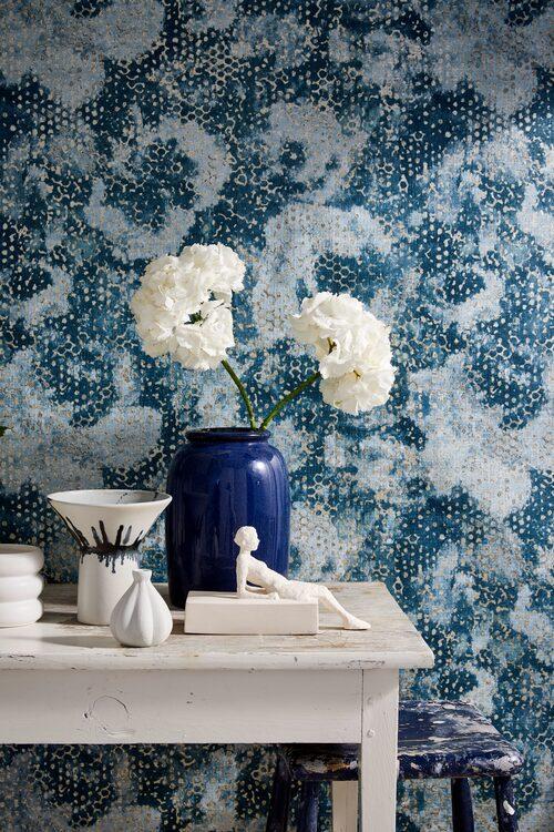Tapet Palasini i färgen teal, 1490 kr/rulle, Designers guild.