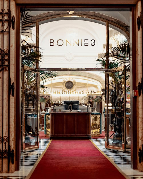Restaurang Bonnies på Bank Hotel.