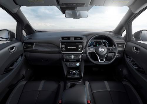 Interiören i nya Nissan Leaf känns ganska vardaglig i jämförelse med hur det såg ut hos utgående generation.