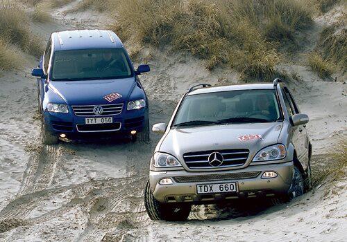 Volkswagen Touareg V10 TDI och Mercedes ML 400 CDI