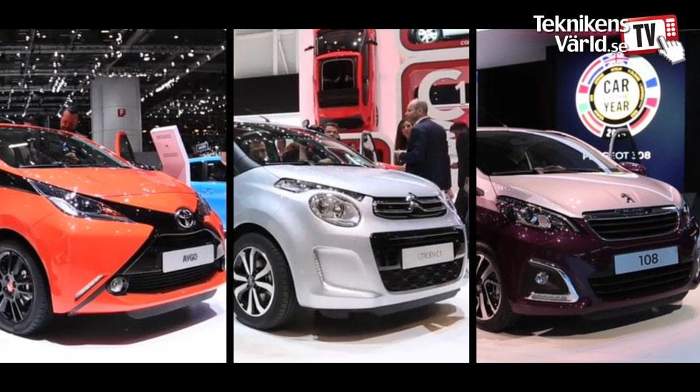 Toyota Aygo, Citroën C1 och Peugeot 108