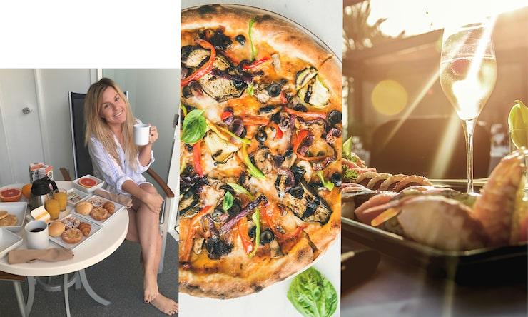 Njut av färsk frukt och drinkar vid poolen, eller testa lokalrestaurangerna när du kliver i land. Dessutom bjuds det på gratis pizzabuffé dygnet runtpå många av fartygen. Du behöver aldrig gå hungrig när du kryssar med TUI.