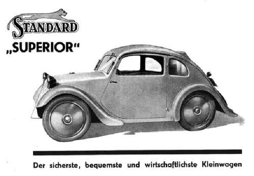 Den säkraste, bekvämaste och mest ekonomiska småbilen. Så sade annonsen om Standard Superior som tillverkades av Standard Fahrzeugbau i Ludwigsburg mellan 1933 och 1935.