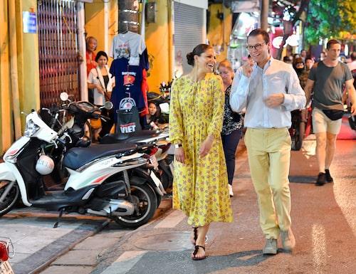 Kronprinsessan Victoria och prins Daniel i Vietnam.