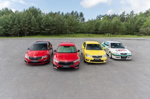 Fyra generationen Octavia RS, från år 2000 fram till i dag. Vilken är din favorit?