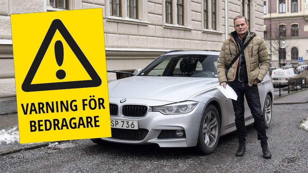 Mikael Falk vill varna andra för oseriösa bilvärderingssajter.