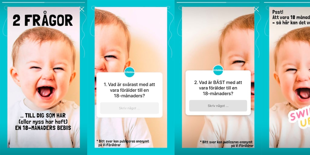 Vad är svårast med att ha ett barn som är 18 månader? Och vad är bäst? Vi frågade på Instagram.
