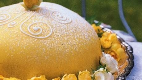 Prinsesstårta, ljusgul