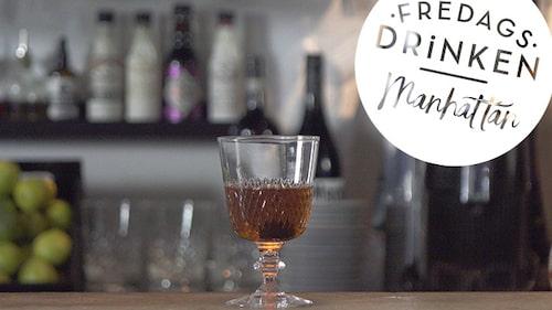 Recept på klassiska drinken Manhattan.