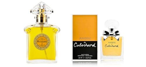 Guerlain Mitsouko & Parfums Gres Ambre de cabochard.