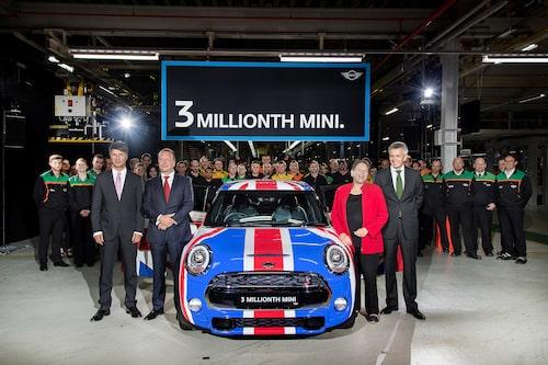 Union Jack på bilnummer 3 000 000 men vilken flagga pryder Mini vid nästa jubileum?