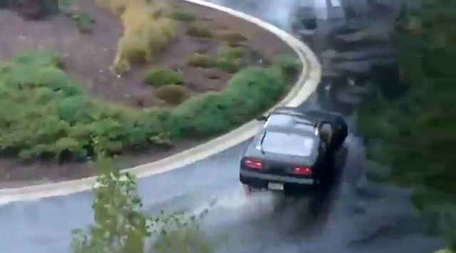 Nissan 300ZX drifting