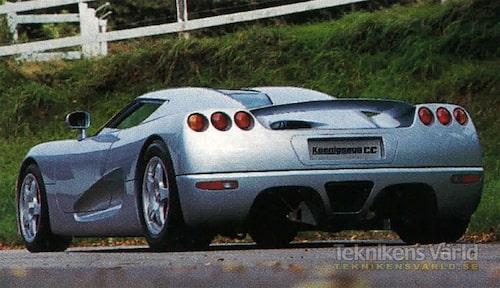 Nästan färdiga Koenigsegg CC. På den leveransklara bilen kommer inte bakaxeln att vara synlig.