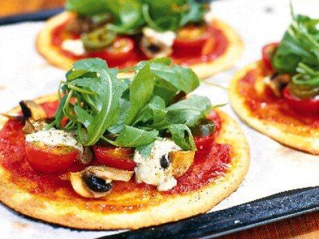 Recept på tortillapizza.