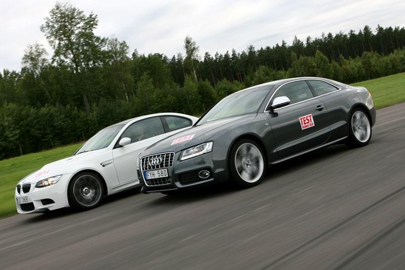 BMW M3 mot Audi S5.