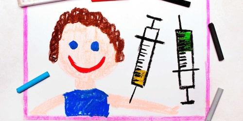 Barn som tillhör en riskgrupp bör vaccineras mot influensa.