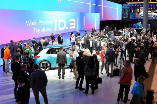 Intresset var stort och många bevittnade avtäckningen av ID.3 nere i Frankfurt.