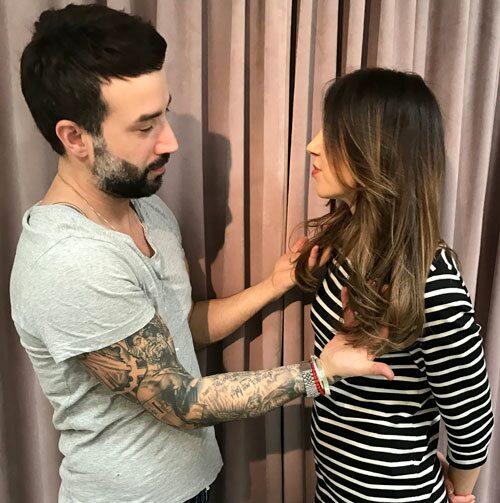 Maria Ahlgren får LA-lyxigt hår hos Antonio Axu.