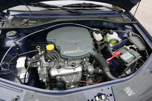 Den lilla motorn på 1,4-liter uträttar inga stordåd direkt.
