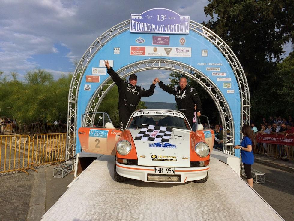 Mats Myrsell och Esko Junttila vann Akropolisrallyt.