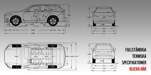 Samtliga tekniska specifikationer för nya Volvo XC60 i PDF-format hittar du om du klickar på bilden.