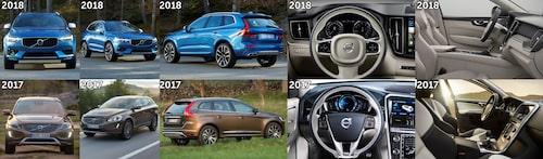 En snabb jämförelse mellan nya och gamla XC60. Klicka för att se bilden i större format.