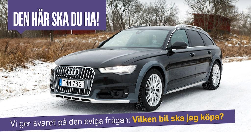 Audi A6 Allroad med några år på nacken. Säkert fullständig idioti i vissas ögon. Inte i Linus.