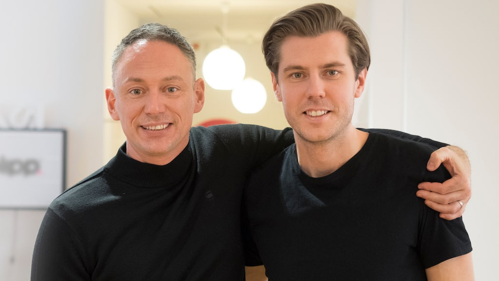 Grundarna Jonny Lindén och Filip Samuelsson.
