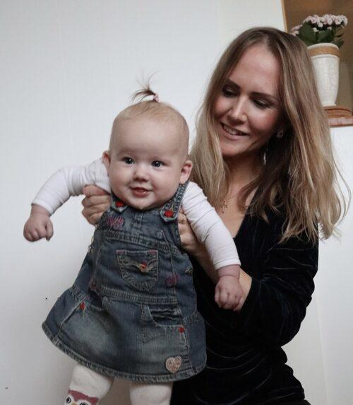 När Matilda slutade amma blev hon äntligen frisk och kunde njuta av första tiden med dottern.