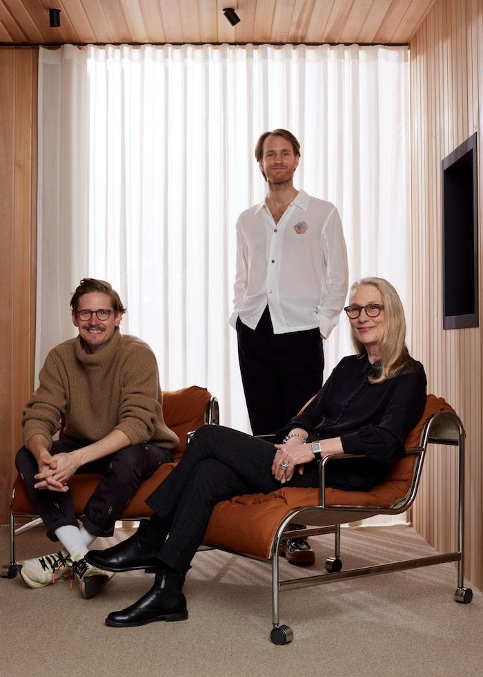 Kristoffer Fagerström, Joel Fjällström och Gunilla Allard.