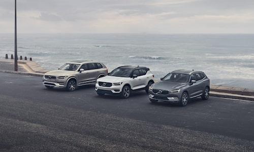 Volvos tre suv-modeller som inom kort får ett nytt syskon i XC20.