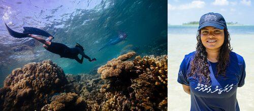 Ohållbart fiske, turism och klimatförändringar har ödesdigra konsekvenser för det marina ekosystemet. Shaha arbetar för att skydda det, och genom Milkywire får hon stöd.