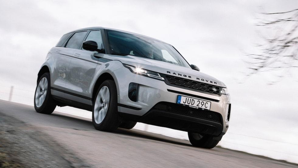 Range Rover Evoque som laddhybrid. Härligt paketerad och elegant uppsyn, men alldeles för dyr.
