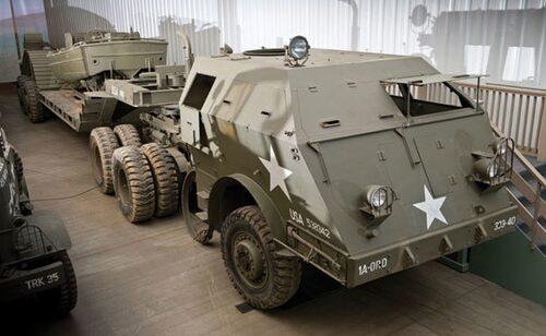 """1943-44 Pacific M26 6x6 bepansrat """"Dragon Wagon"""" tanktransportfordon"""