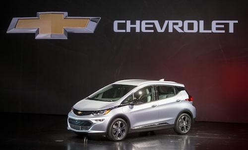 Chevrolet Bolt EV, identisk med europeiska varianten Opel Ampera-e.