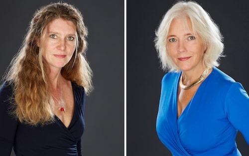 Terapeuten Karin Nordlander och Linda Newnham. Foto: Peter Knutson