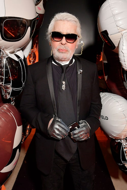 Karl Lagerfelds sista samarbete blev med sminkmärket  L'oréal Paris.