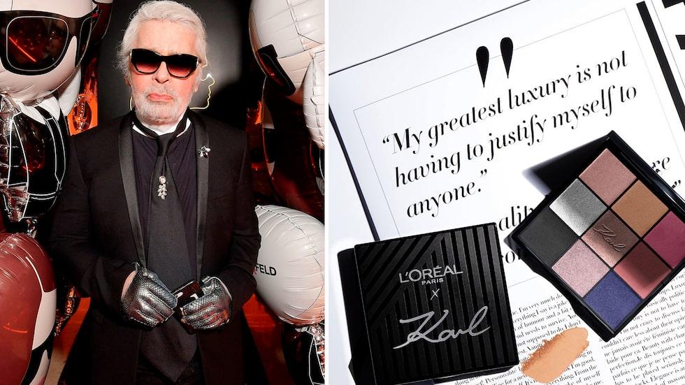 L'oréal Paris släpper smink med Karl Lagerfeld.