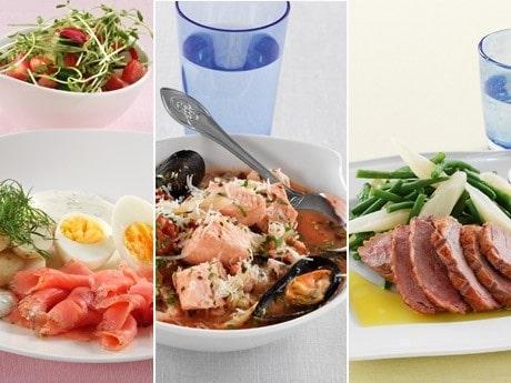 <p>Middag: sommartallrik, musslor eller ankbr&ouml;st.</p>