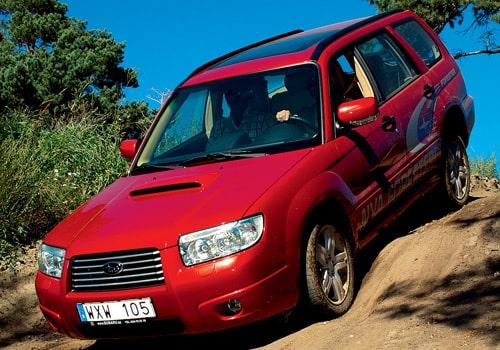 Provkörning av Subaru Forester 2,0R och Forester 2,5XT
