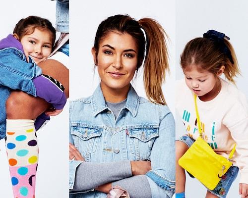 Paula Rosas med döttrarna Molly-Elise och Leonore.