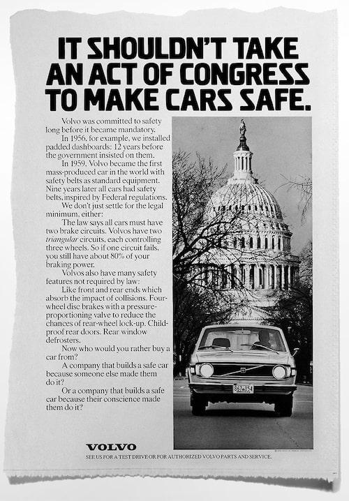 Volvo Cars informationskampanj i USA 1973.