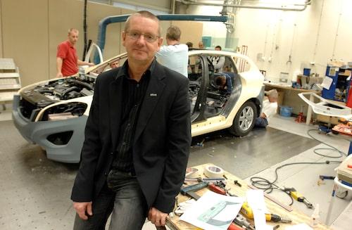 Magnus Sundemo, som är fackordförande för Sveriges Ingenjörer/Akademikerna vid Volvo Cars, är glad över att det går så bra för svensk bilindustri.