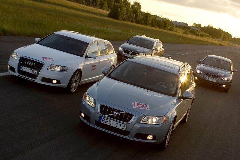 Håller nya Volvo V70 måttet? Sveriges folkvagn nummer ett har bytt skepnad, vi tar pulsen på landets nya kombi mot Audi A6, BMW 5-serie och Volkswagen Passat.