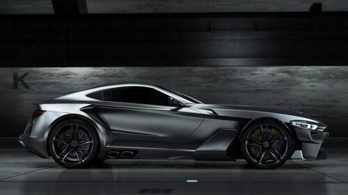 """Bilen kommer att byggas runt ett lättvikschassi av modell """"space frame"""" med samma typ av aluminium som används i flygindustrin kombinerat med höghållfasthetsstål och kompositmaterial i karossen. Detta ska hjälpa till att hålla nere vikten till låga 990 kg."""